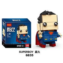 Brickheadz Super-heróis Superman Batman IronMan Marvel Super Heroes Figuras Building Block Bricks legoING DC vingadores Brinquedos(China)