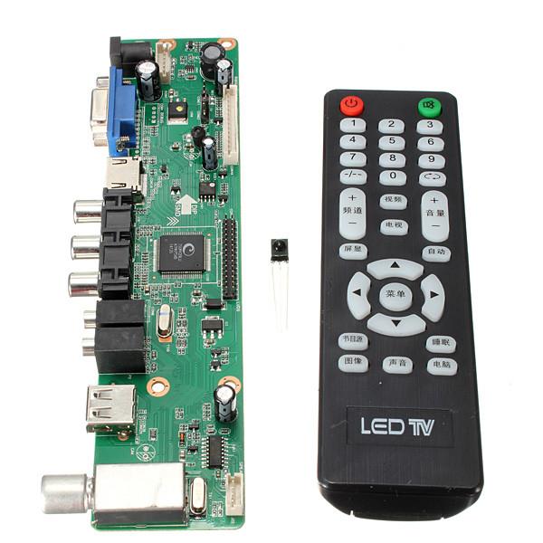 Universal LCD Controller Board 1920*1080 Resolution TV Motherboard VGA/HDMI/AV/TV/USB HDMI Interface Driver Board(China (Mainland))