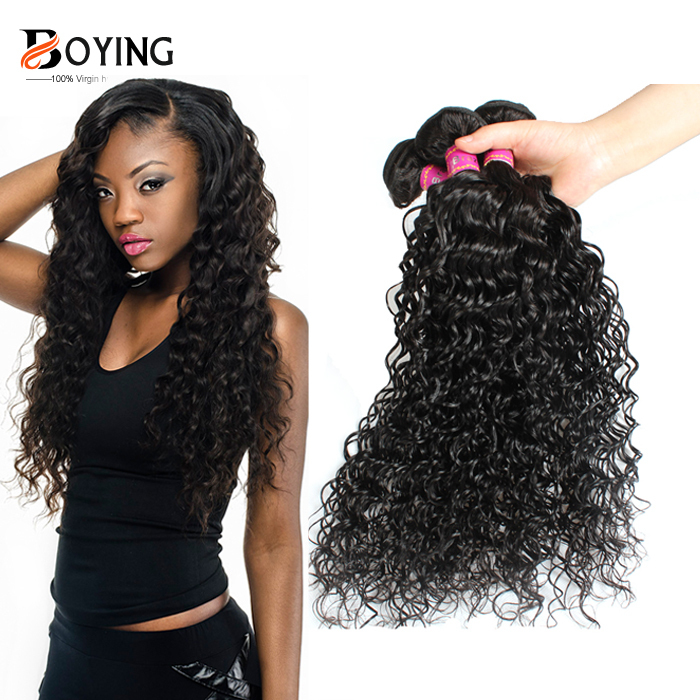 7A Brazilian Virgin Hair Deep Wave 100% Human Hair Weave 3 Bundle Cheap Brazilian Curly Virgin Hair Brazilian Deep Wave(China (Mainland))