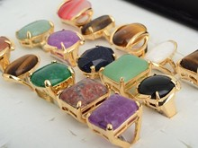 5pcs Vintage Natural Stone Womens Rings