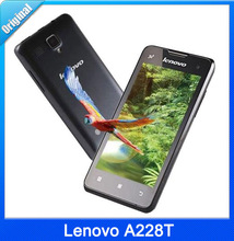 Original Lenovo A228T 4.0 inch Quad Core 1.2GHz Cell Phone TFT Android 2.3 Dual Camera GSM WIFI 256MB RAM 512MB ROM Phone