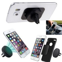 Universal Mini Air Vent Outlet Mount Magnetic Car Phone Holder for iPhone Samsung Huawei Xiaomi LG Sony HTC All Mobile Phone GPS(China (Mainland))