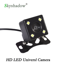 Buy Universal Waterproof Rear View Camera Parking Assistance HD CCD 4 LED Lights Night Vision for $5.99 in AliExpress store