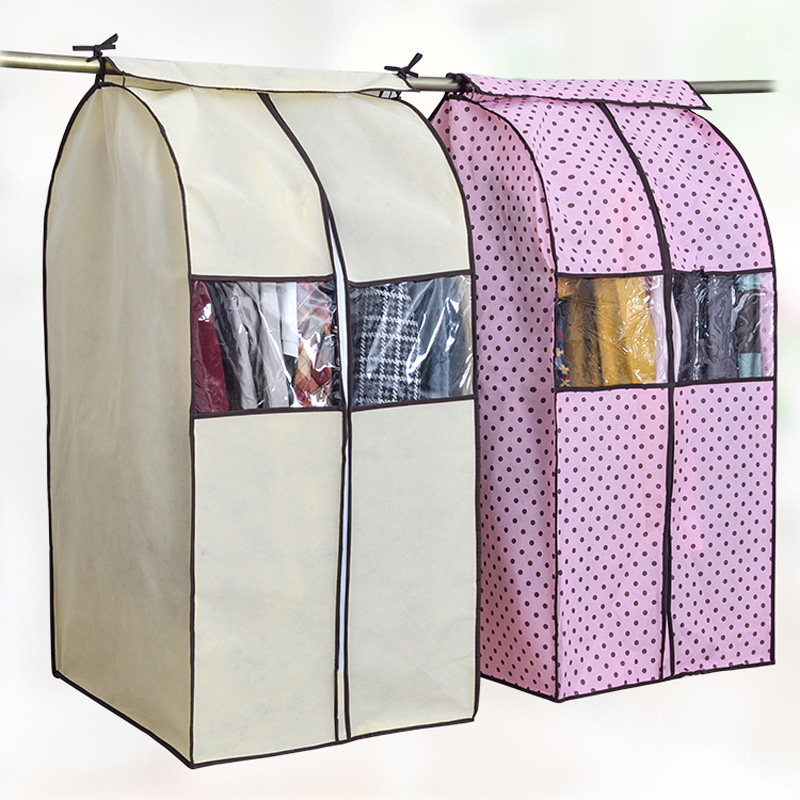 Large Capacity Cloth Hanging Suit Coat Dust Cover Protector Wardrobe Storage Bag(China (Mainland))