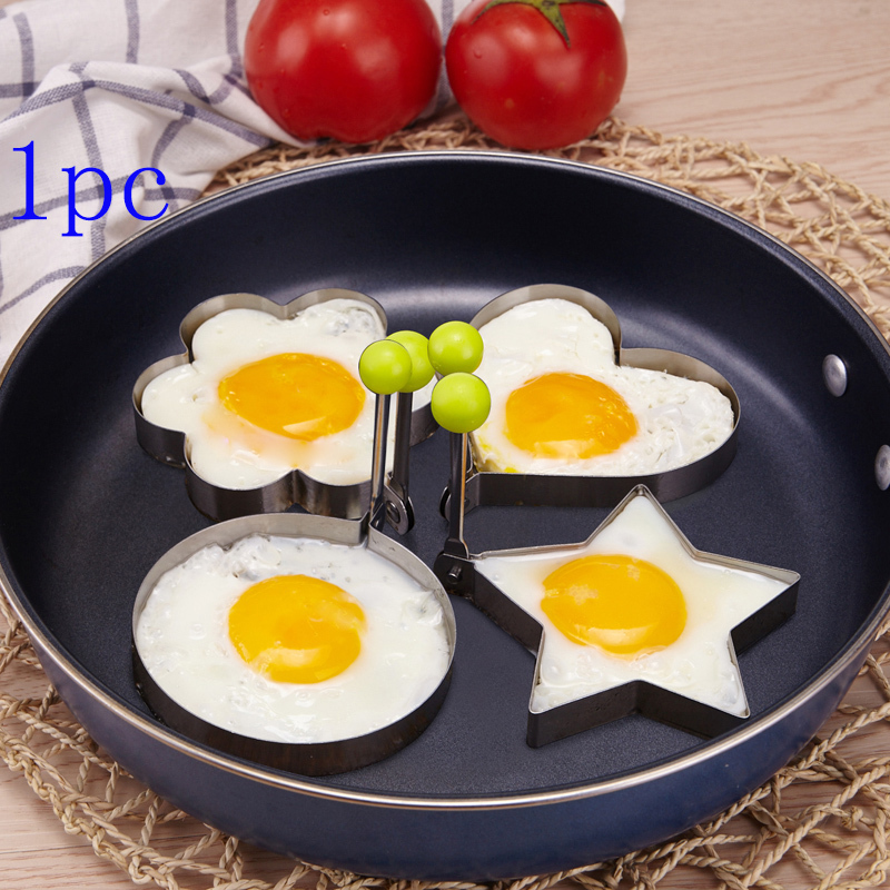 1pc Stainless Steel Fried Egg Mold Pancake Mold cooking tools Kitchen Tools Pancake Rings Cooking Egg Mold styling tools(China (Mainland))