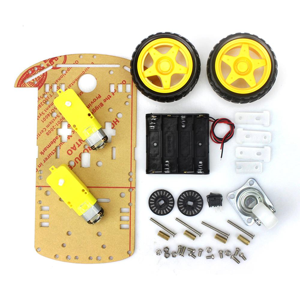 Free Motor Smart Robot Car Chassis /Tracing car box Kit Speed Encoder Battery Box Arduino