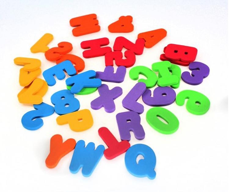 Bath Foam Alphabet Letters Numbers
