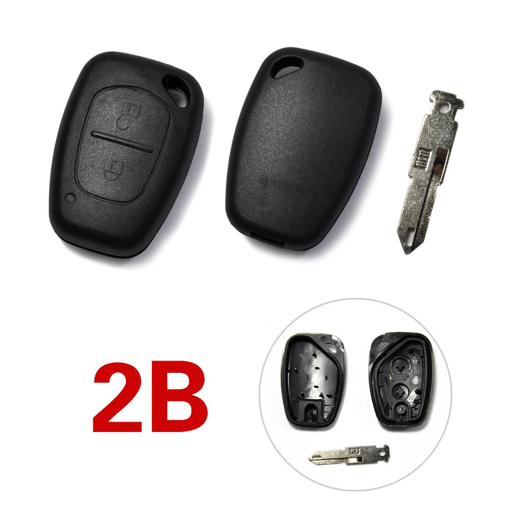 Replacement 2 Button Renault Traffic/Master/Vivaro/Movano/Kangoo Remote Key Case Empty Key Shell Car Keys(China (Mainland))