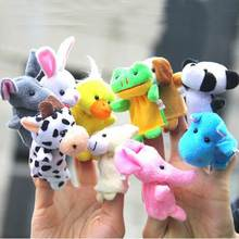 1Set/10Pcs Velvet Finger Animal Puppet Play Dolls Story Fairy Tale Toy Show For Baby Kid(China (Mainland))