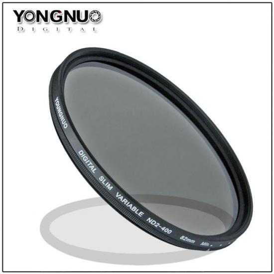 Yongnuo 58mm Slim ND Filter Neutral Density Variable ND2 ND4 ND8 to ND400 Camera Lens Filters 58MM(China (Mainland))
