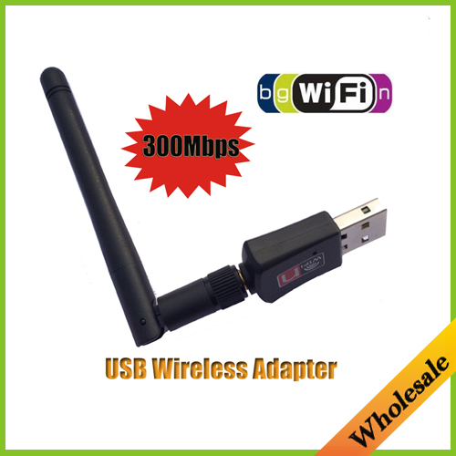 Mini 300M USB WiFi Wireless-N Network Networking Card LAN Adapter with Antenna Computer Accessories,Wholesale Free Shipping(China (Mainland))
