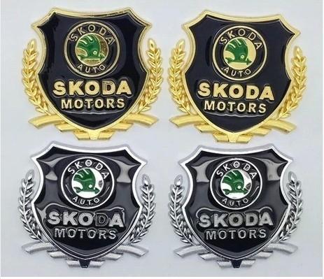 car styling case for skoda octavia octavia a 5 a 7 rapid fabia metal Badge sticker modified standard column car accessories(China (Mainland))