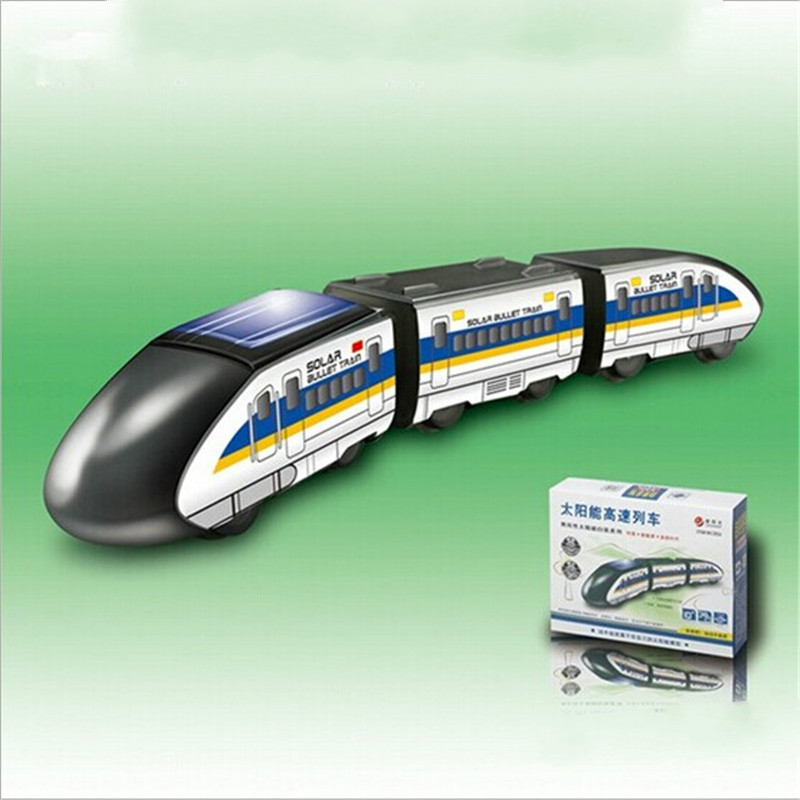 Creative Solar Toy Solar Energy High Speed Train Model DIY Educational Science Toy Students Experimental Toys for Gift(China (Mainland))