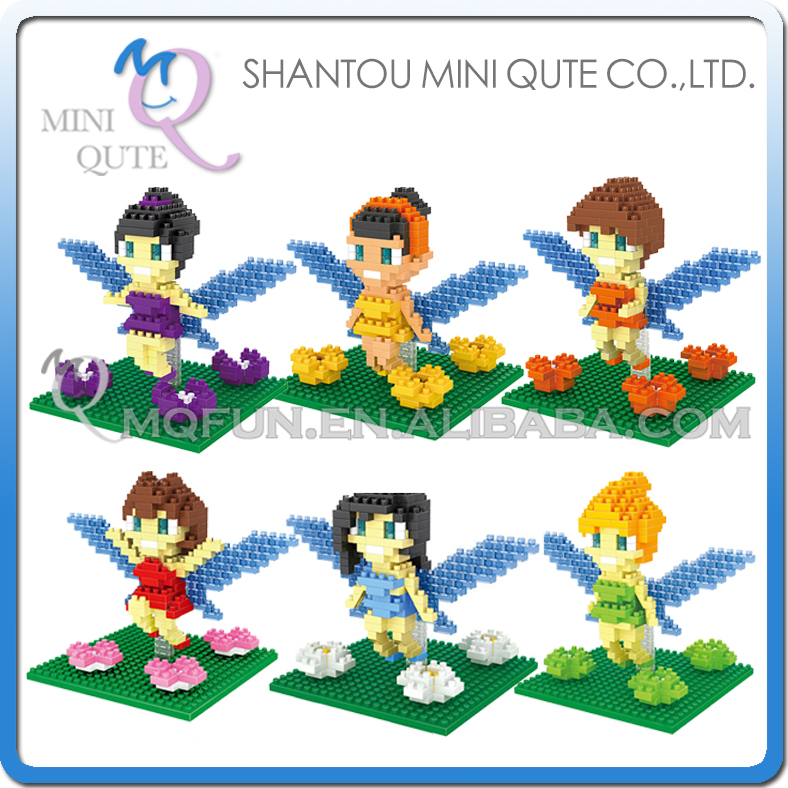 6pcs/lot Mini Qute DR.STAR 6 style Kawaii Game Butterfly Fairies plastic building blocks movie cartoon model educational toy<br><br>Aliexpress