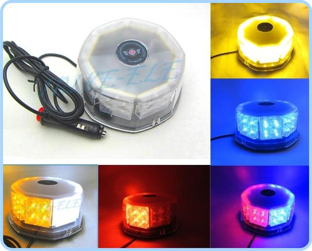 Free Shipping 32 LED 32W Car High Power Magnetic Roof Flashing Strobe Emergency Light Police Warning light white amber red bule(China (Mainland))