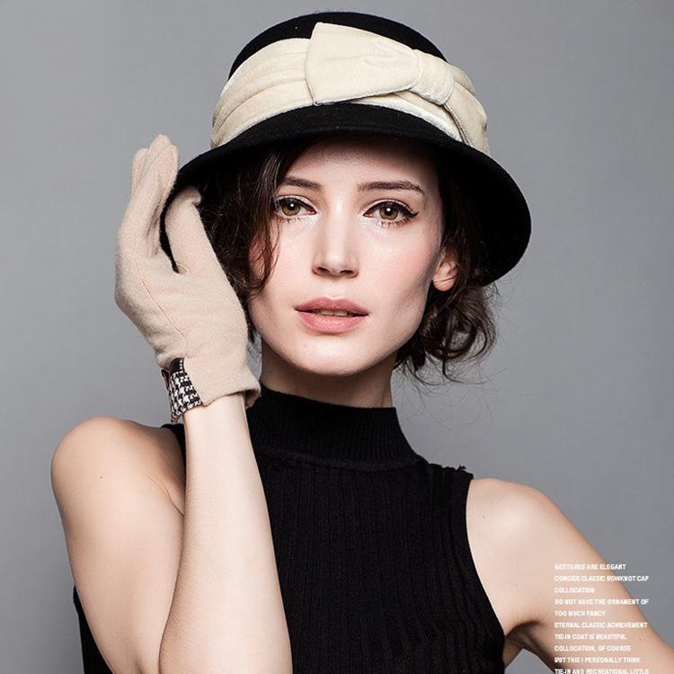 2016 Autumn winter Hot Sale Wool Hat Ladies Fashion Elegant cap England style cap for free shipping(China (Mainland))