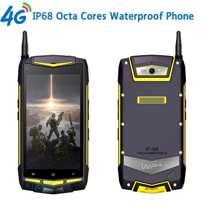 "Rugged Android Waterproof Phone 8 Octa Core UHF Ham radio Walkie Talkie 5"" 1920x1080 IP68 USB 32GB GPS V1 Mobile Phone 4G LTE(China (Mainland))"