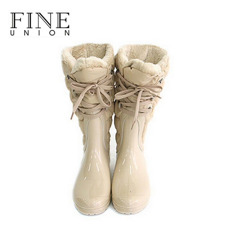 New 2016 women boots casual winter boots snow boots waterproof women rain boots warm slip-resistant shoes woman Size 36 - 40
