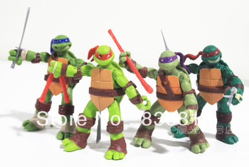 TMNT Teenage Mutant Ninja Turtles 1987 Classic Collection Action Figures 4 pcs set