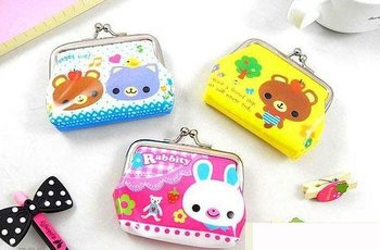 Free Shipping/Cute cartoon Animals small Portable Wallet/key holder/coin bag/small Purses/Japan Style/Gift/Wholesale