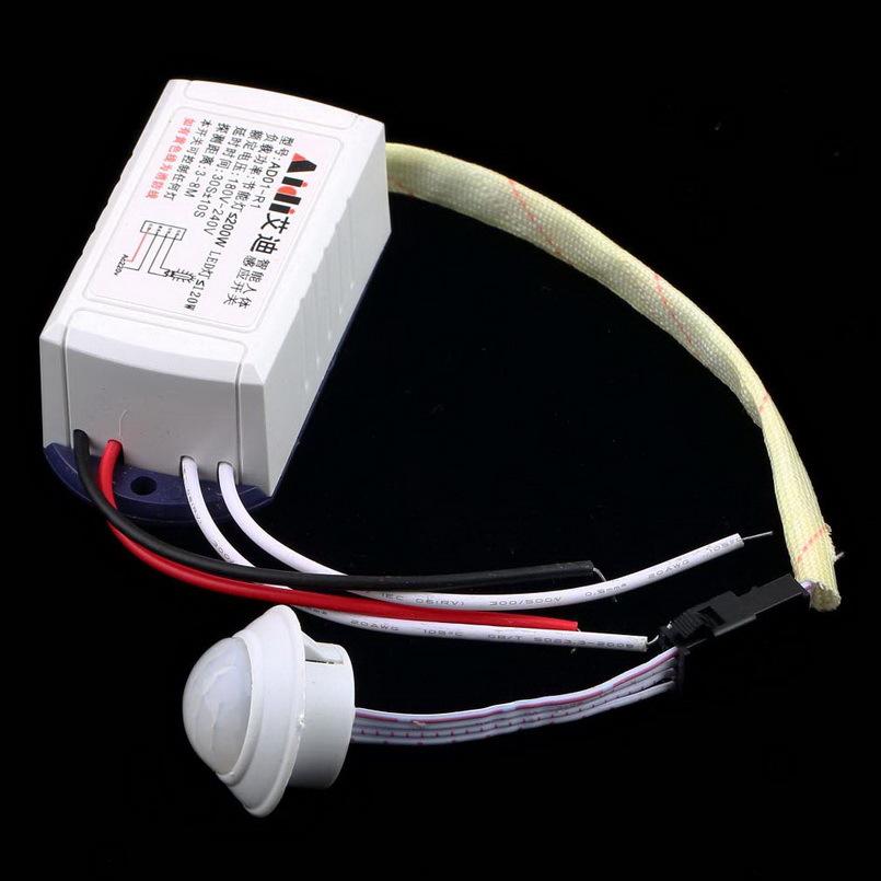 New 1pcs 200W 220V IR Infrared Module Body Sensor Intelligent Light Motion Sensing Switch YKS
