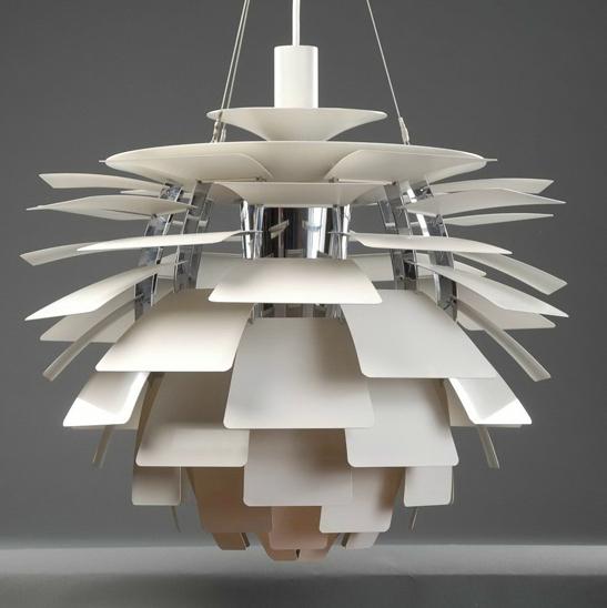 Modern Aluminum Pendant Lamp Famous Lamp Designs Dinning Room Artichoke Chandelier Silver White Red Gold Pendant Lamp Dia70cm(China (Mainland))