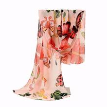 New Fashion Women Lady Winter Classic Butterfly Print Shawls Scarf Scarves Chiffon Soft Long Scarf Size160*45cm No.02132(China (Mainland))