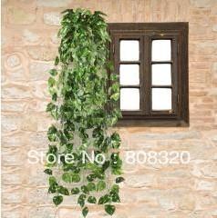 Freeshipping!!! 15pcs 90CM Artificial Fake Faux Scindapsus Leaf Vine Plant Garland Wedding(China (Mainland))