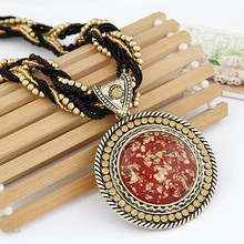 Fashion Vintage Resin beads Bohemian ethnic style choker Necklace Statement Jewelry for women 2014 PT24