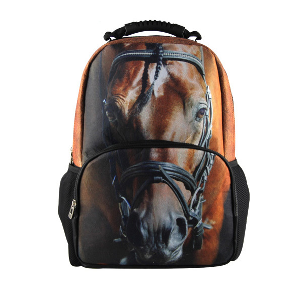 Cool Children 3D Animal Felt Backpack Men's Backpack Crazy Horse Printing Bag For School Girls College Student Bagpack Retail(China (Mainland))