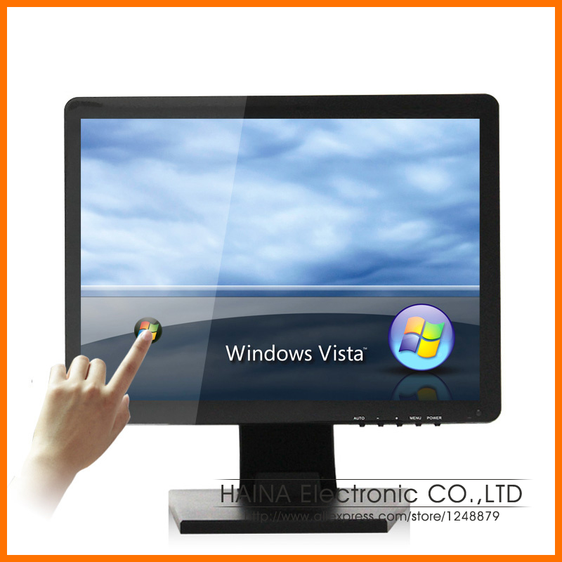 4:3 17 inch Touchscreen Monitor, 17 LCD Computer Monitor with USB Touch Screen panel for Restaurant Equipment / Pos System(China (Mainland))