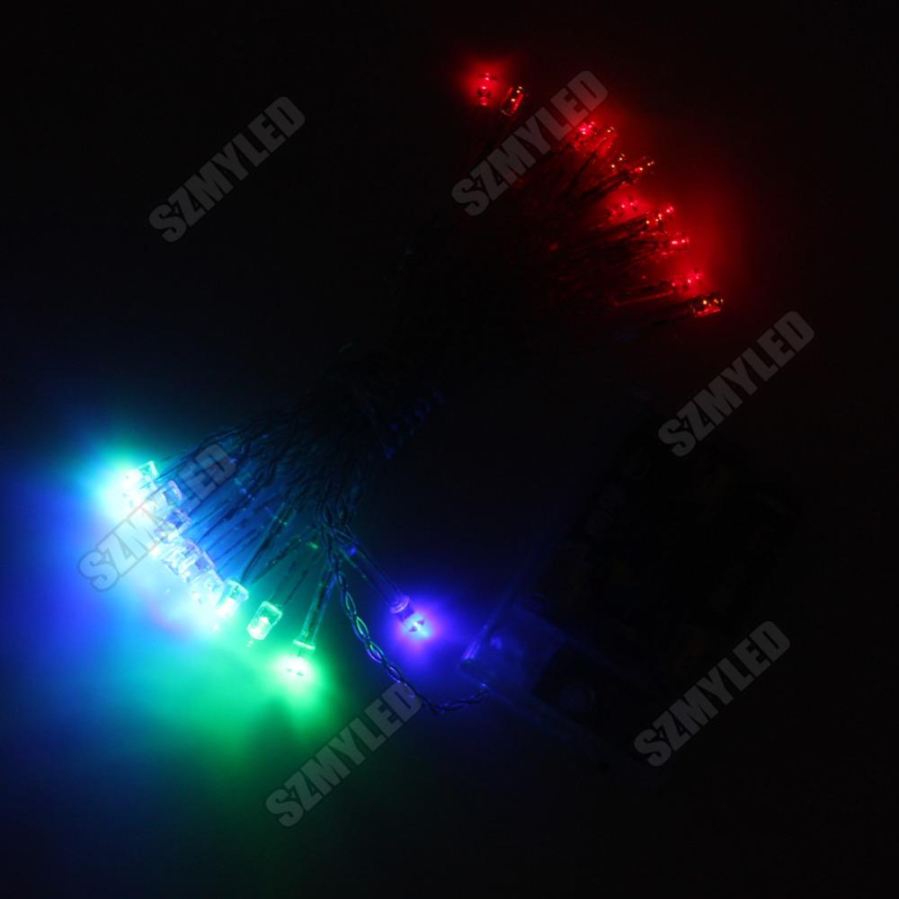 Miyole 2 pcs LED Christmas Battery Light 3*AA 5M 50LED 6 Colors Waterproof 2-Modes Flashing and Long Bright LED String Light(China (Mainland))