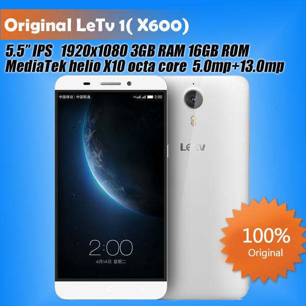 Original Letv 1 Letv one X600 Mobile Phone 4G FDD LTE 5.5'' IPS octa core MTK6795 2.2GHz CPU 3GB RAM 16GB ROM 5mp 13mp camera(China (Mainland))