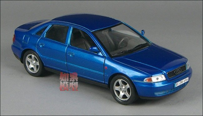 NEW 2015 New 1:24 AUDI A4 Alloy Diecast Car Model Toy Collection With Box Blue B1559(China (Mainland))