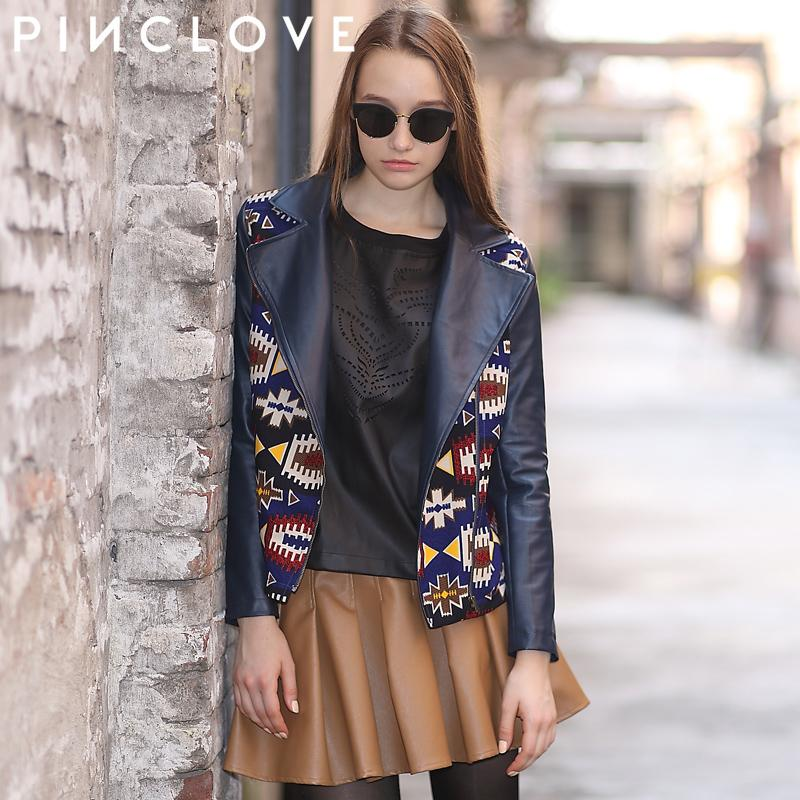 Здесь можно купить  jaqueta couro Abstract print pinclove PU patchwork leather jacket casual all-match short jacket female autumn and winter y158 jaqueta couro Abstract print pinclove PU patchwork leather jacket casual all-match short jacket female autumn and winter y158 Одежда и аксессуары