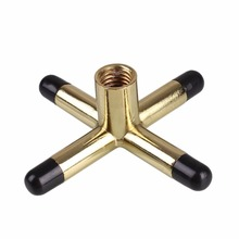 Golden Copper Brass Cross Head Pool Billiard Snooker Cue Rest Pool Cue Accessories(China (Mainland))