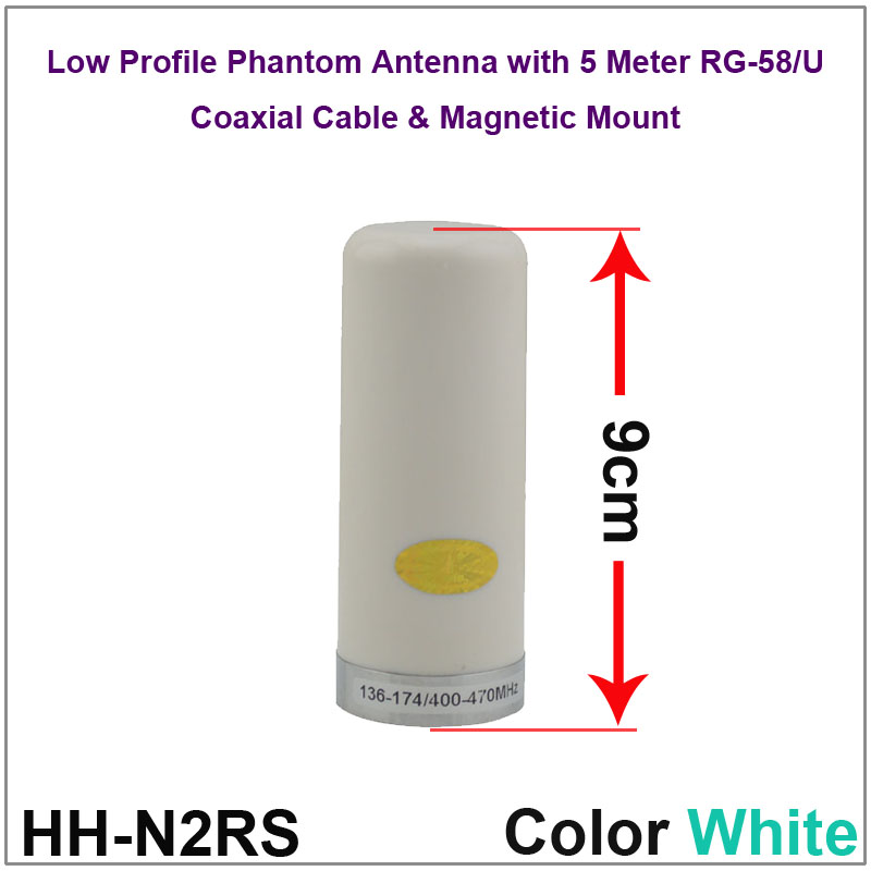 Здесь можно купить  Low Profile Phantom Antenna Dual Band VHF UHF Mobile/Vehicle Radio Antenna with magnetic mount & 5M Coaxial Cable Color White  Телефоны и Телекоммуникации