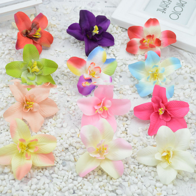 2016 artificial flowers new hot simulation silk flower orchid artificial flower garlands material DIY decorative flower wholesal(China (Mainland))