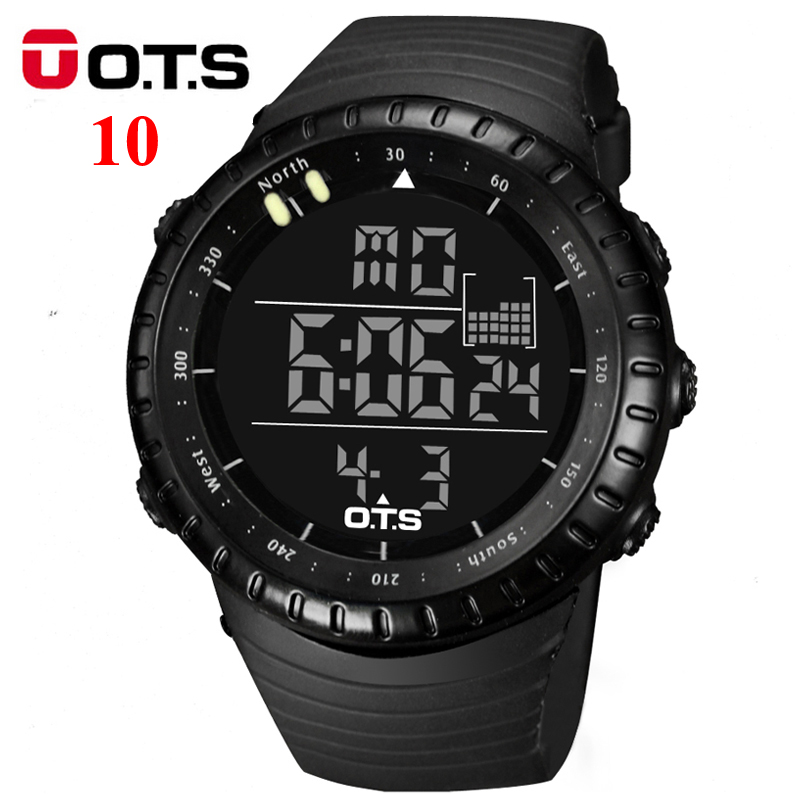 OTS Digital Watches men sports 50M Professional Waterproof Quartz large dial hours military Luminous wristwatches 2016 fashion(China (Mainland))