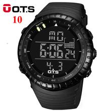 OTS Digital Watches men sports 50M Professional Waterproof Quartz large dial hours military Luminous wristwatches 2016 fashion(China (Mainland))