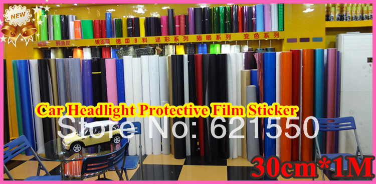 Top New 30cm*1M Car Headlight Lights Membrane Translucent Film Car Sticker Rear Light Membrane Car Protective Film Freeshipping(China (Mainland))