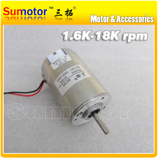 5000rpm 24V 1.5A 25W,R4468 6N*cm DIY High speed Electric DC motor Long output shaft,Durable Brush,Wholesale/retail,Free shipping(China (Mainland))