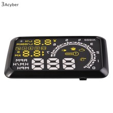 Large Screen Car HUD Head Up Display Projector Speeding Warning System12V OBDII OBD2 Interface KM/h Car PC Driving Data(China (Mainland))