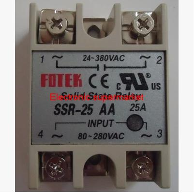 1pcs/lot SSR-25A Solid State Relay 3-32V DC 24-380V AC Control(China (Mainland))