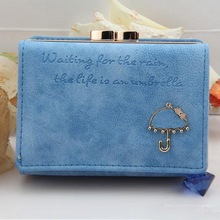 Hot Sales Card Wallet Best Leather Button Clutch Purse Short Handbag Bag For Lady Business ID