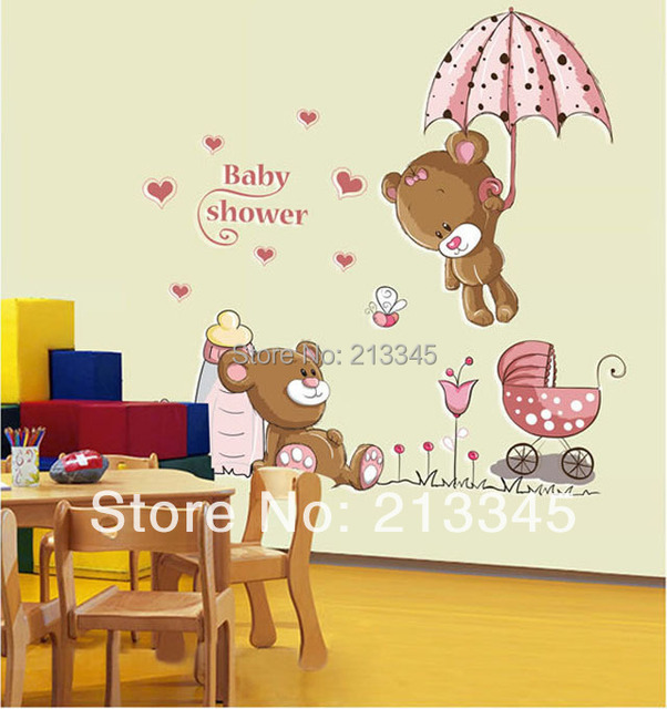 Saturday monopoly diy decals removable baby shower cute - Dessin mural chambre fille ...