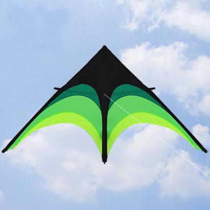 Outdoor Triangle Large kite 2m + 10m tail umbrella cloth prairie kite good toughness strength Family Activities Easy to fly kite(China (Mainland))