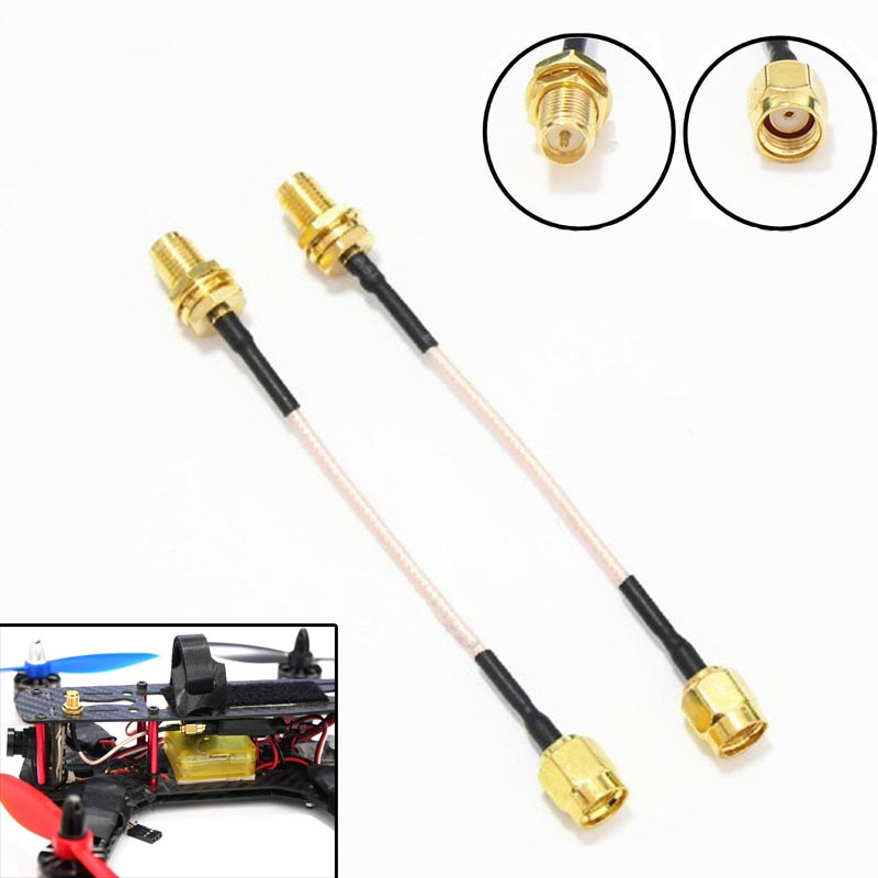 2pcs 90mm V Antenna Extension Cable SMA Male to SMA Female Antennae Adapter CLH(China (Mainland))