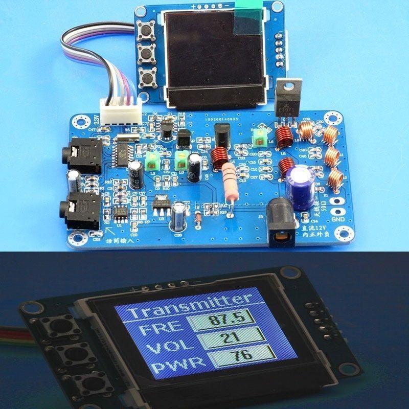 5W FM Transmitter Radio Station PLL Stereo MAX power 7W Digital frequency KITS + lcd Digital Display(China (Mainland))