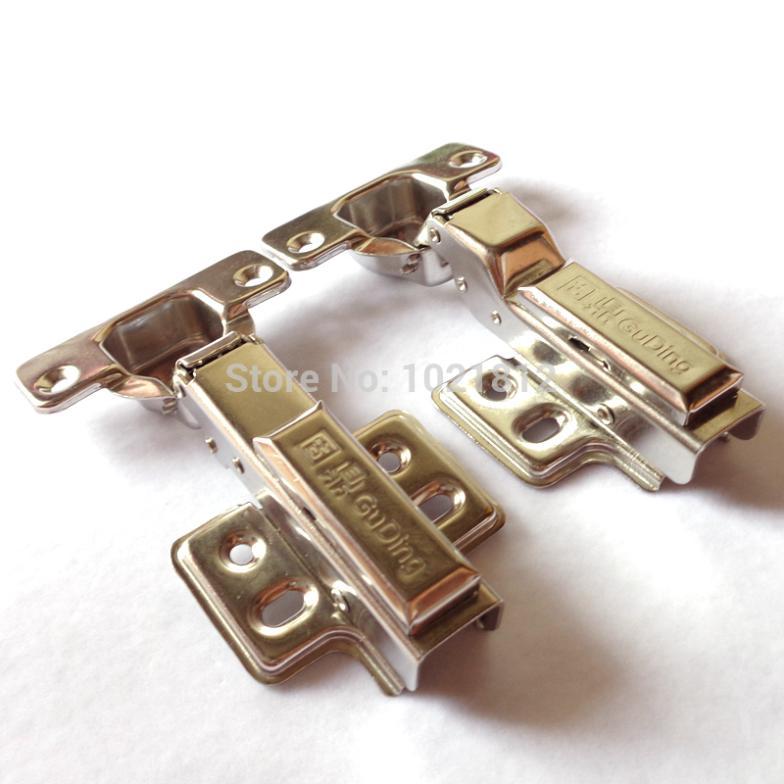 50pcs Hydraulic Cabinet Hinge 304 Stainless Steel Hinge Soft Close Brass Buffering Fixed Base(China (Mainland))